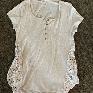 Crocheted Side Casual Blouse